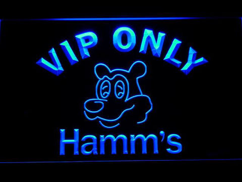 Hamm's VIP Only LED Neon Sign - Blue - SafeSpecial