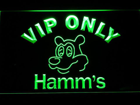 Hamm's VIP Only LED Neon Sign - Green - SafeSpecial