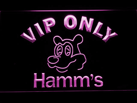 Hamm's VIP Only LED Neon Sign - Purple - SafeSpecial