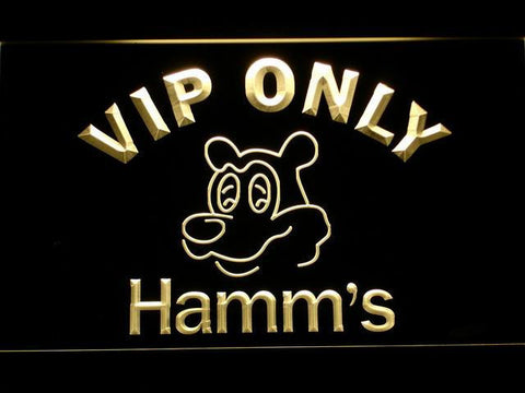 Hamm's VIP Only LED Neon Sign - Yellow - SafeSpecial