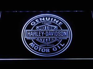 Harley Davidson Genuine Motor Oil LED Neon Sign - White - SafeSpecial