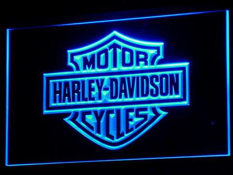 Image of Harley Davidson LED Neon Sign - Blue - SafeSpecial