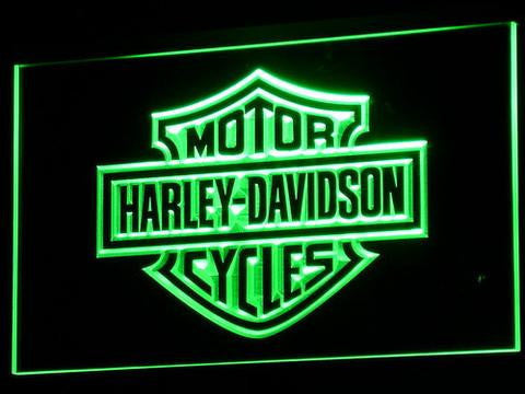 Image of Harley Davidson LED Neon Sign - Green - SafeSpecial