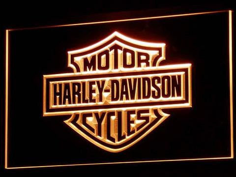 Harley Davidson LED Neon Sign - Orange - SafeSpecial