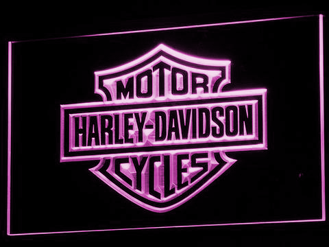 Harley Davidson LED Neon Sign - Purple - SafeSpecial