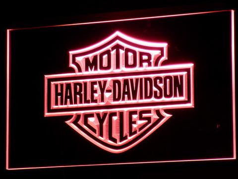 Image of Harley Davidson LED Neon Sign - Red - SafeSpecial