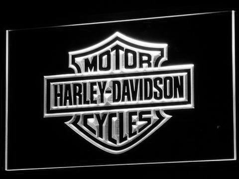 Image of Harley Davidson LED Neon Sign - White - SafeSpecial