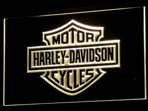 Harley Davidson LED Neon Sign - Yellow - SafeSpecial