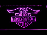 Harley Davidson Motorcycles LED Neon Sign - Purple - SafeSpecial