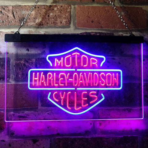 Harley Davidson Motorcycles Neon-Like LED Sign - Dual Color