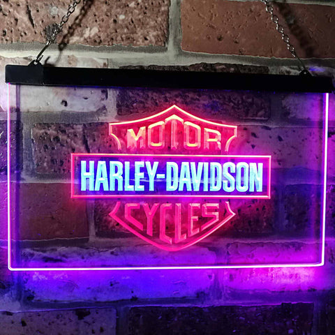 Image of Harley Davidson Neon-Like LED Sign - Dual Color