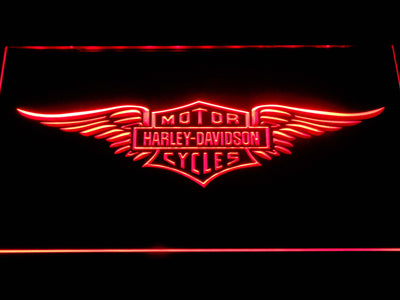 Harley Davidson Wings LED Neon Sign - Red - SafeSpecial