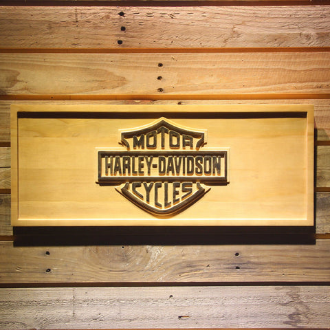 Harley Davidson Wooden Sign - Small - SafeSpecial
