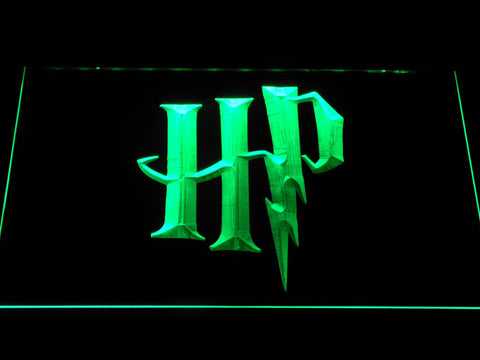 Image of Harry Potter HP Logo LED Neon Sign - Green - SafeSpecial