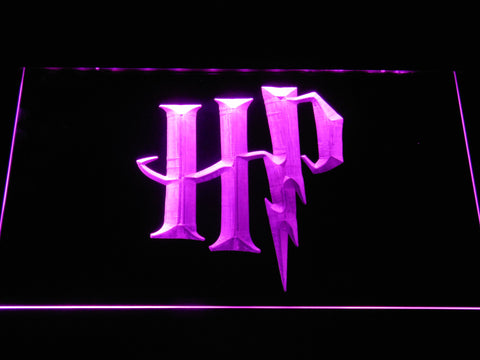 Image of Harry Potter HP Logo LED Neon Sign - Purple - SafeSpecial