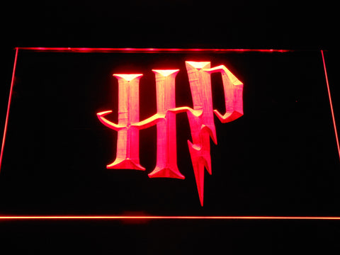 Image of Harry Potter HP Logo LED Neon Sign - Red - SafeSpecial