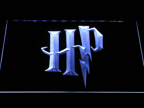 Image of Harry Potter HP Logo LED Neon Sign - White - SafeSpecial