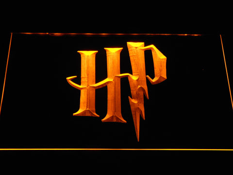 Image of Harry Potter HP Logo LED Neon Sign - Yellow - SafeSpecial