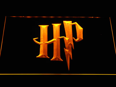 Harry Potter HP Logo LED Neon Sign - Yellow - SafeSpecial