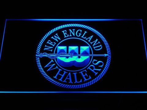 Image of Hartford Whalers New England Logo LED Neon Sign - Legacy Edition - Blue - SafeSpecial