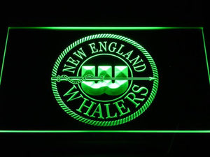 Hartford Whalers New England Logo LED Neon Sign - Legacy Edition - Green - SafeSpecial