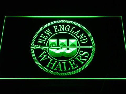Image of Hartford Whalers New England Logo LED Neon Sign - Legacy Edition - Green - SafeSpecial