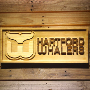 Hartford Whalers Wooden Sign - Small - SafeSpecial