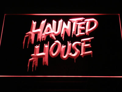 Haunted House LED Neon Sign - Red - SafeSpecial
