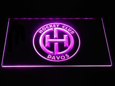 HC Davos LED Neon Sign - Purple - SafeSpecial