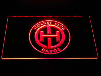 HC Davos LED Neon Sign - Red - SafeSpecial