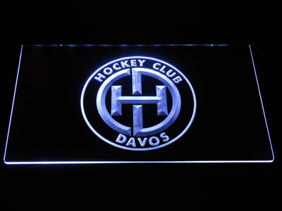 HC Davos LED Neon Sign - White - SafeSpecial