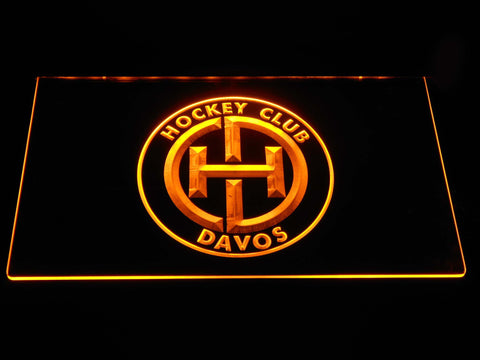 Image of HC Davos LED Neon Sign - Yellow - SafeSpecial