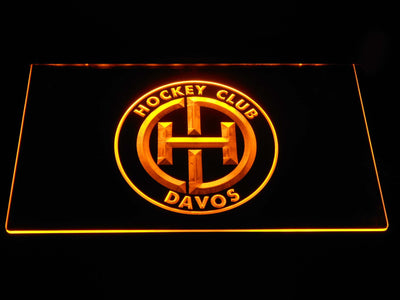 HC Davos LED Neon Sign - Yellow - SafeSpecial
