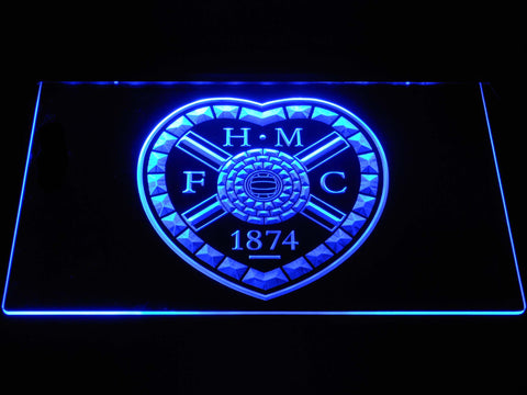 Image of Heart of Midlothian F.C. LED Neon Sign - Blue - SafeSpecial