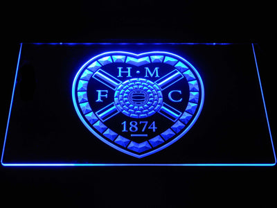 Heart of Midlothian F.C. LED Neon Sign - Blue - SafeSpecial