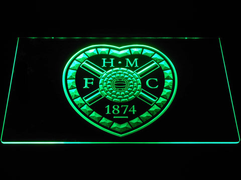 Image of Heart of Midlothian F.C. LED Neon Sign - Green - SafeSpecial
