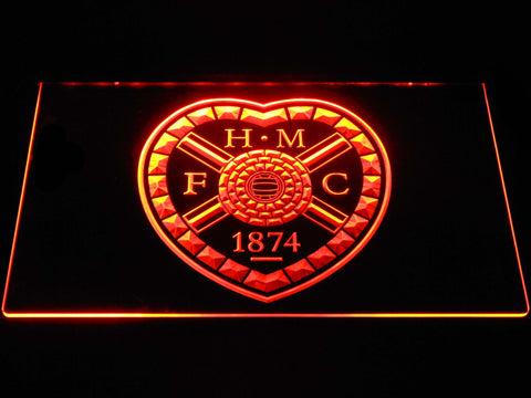 Image of Heart of Midlothian F.C. LED Neon Sign - Orange - SafeSpecial