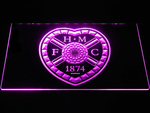Image of Heart of Midlothian F.C. LED Neon Sign - Purple - SafeSpecial