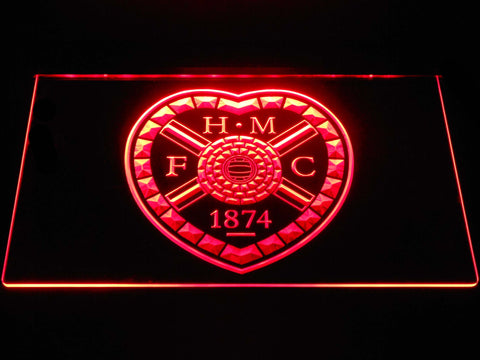 Image of Heart of Midlothian F.C. LED Neon Sign - Red - SafeSpecial