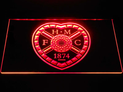 Heart of Midlothian F.C. LED Neon Sign - Red - SafeSpecial