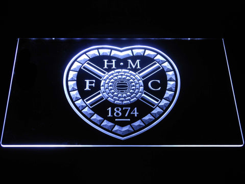 Image of Heart of Midlothian F.C. LED Neon Sign - White - SafeSpecial
