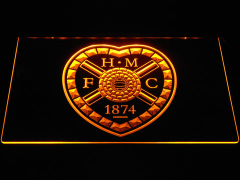 Image of Heart of Midlothian F.C. LED Neon Sign - Yellow - SafeSpecial