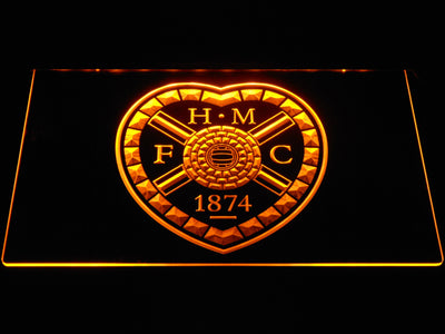 Heart of Midlothian F.C. LED Neon Sign - Yellow - SafeSpecial