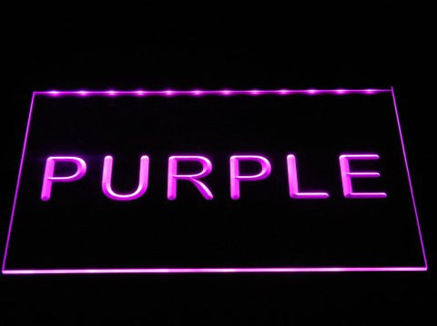 Image of Heerenveen LED Neon Sign - Purple - SafeSpecial