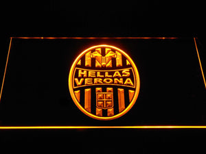 Hellas Verona F.C. LED Neon Sign - Yellow - SafeSpecial