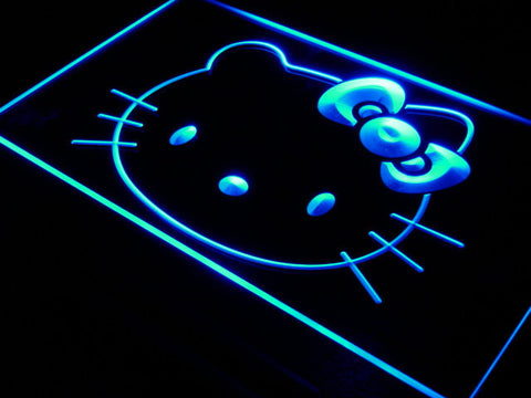 Image of Hello Kitty Head LED Neon Sign - Blue - SafeSpecial