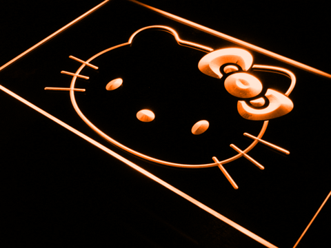 Image of Hello Kitty Head LED Neon Sign - Orange - SafeSpecial