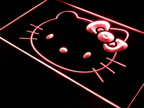 Image of Hello Kitty Head LED Neon Sign - Red - SafeSpecial