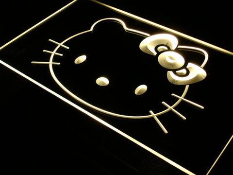 Image of Hello Kitty Head LED Neon Sign - Yellow - SafeSpecial