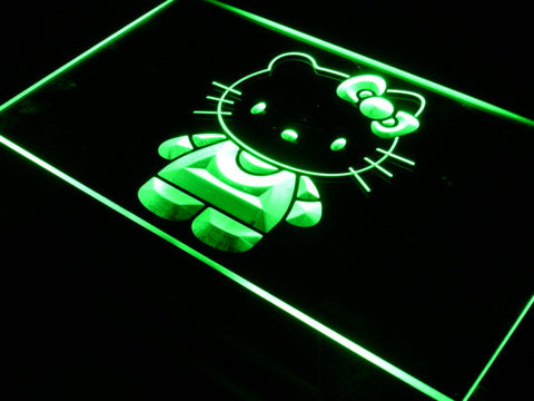 Hello Kitty LED Neon Sign - Green - SafeSpecial